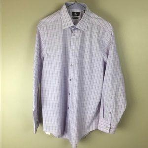 Calvin Klein mens purple dress shirt 16 32/33